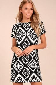 Give Me a Print Black Print Shift Dress