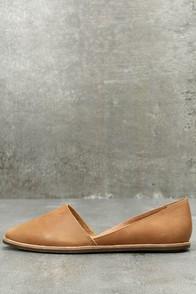 Vance Tan Leather Flats