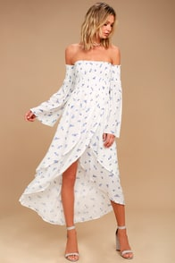 Lovely White Dress - Lace Dress - Maxi Dress - $96.00