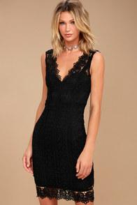 Spread Your Wings Black Lace Midi Dress