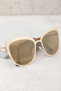Sun Ray Gold Mirrored Sunglasses