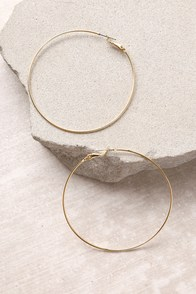 Come and Get It Gold Hoop Earrings