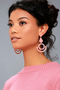 1960s Inspired Fashion: Recreate the Look Callie Rose Pink Earrings $27.00 AT vintagedancer.com