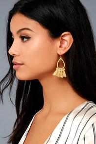 Seize the Day Gold Tassel Earrings