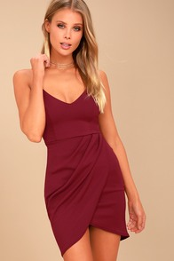Forever Your Girl Wine Red Bodycon Dress at Lulus.com!