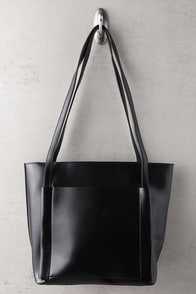 Business Idea Black Tote at Lulus.com!