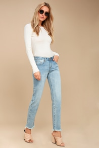 Awesome Baggies Light Wash High-Waisted Jeans at Lulus.com!
