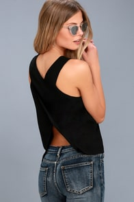 Party Time Black Sleeveless Top at Lulus.com!