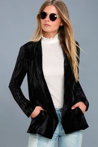 Juliette Black Velvet Blazer at Lulus.com!