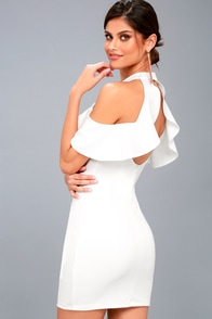 Your Time White Off-the-Shoulder Bodycon Dress at Lulus.com!