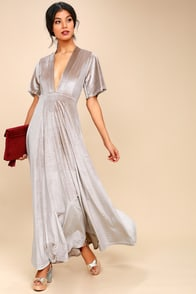 Temptress Taupe Velvet Maxi Dress at Lulus.com!
