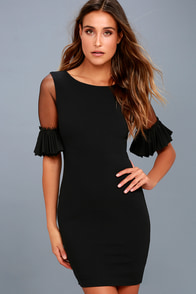 Show and Tell Black Bodycon Dress