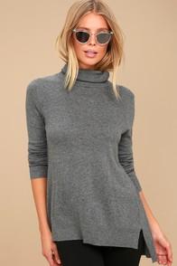Ottawa Dark Grey Turtleneck Sweater Top