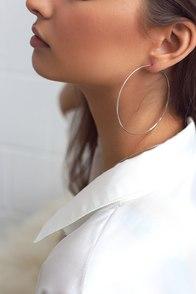 Radiant Days Silver Hoop Earrings