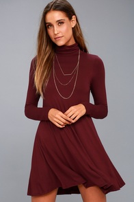 Sway, Girl, Sway! Wine Red Swing Dress at Lulus.com!
