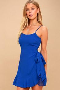 Sexy Teal Blue Dress Bodycon Dress Wrap Dress