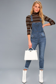 Come Into Bloom Medium Wash Denim Overalls at Lulus.com!