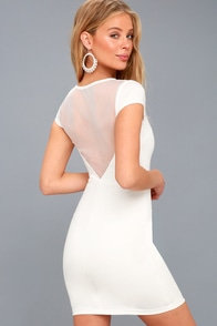 Bless This Mesh White Mesh Bodycon Dress at Lulus.com!