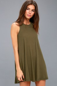 LA Nite Olive Green Sleeveless Mini Dress at Lulus.com!