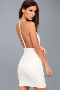 Sultry Nights White Lace Bodycon Dress at Lulus.com!