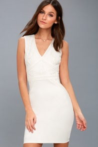 sexy white dress lwd bodycon dress backless dress