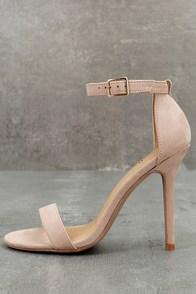 Elsi Nude Single Strap Heels