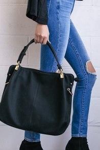 Ocean Cruise Black Handbag
