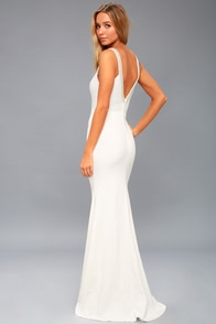 Celena White Beaded Maxi Dress