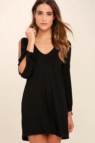 Glory of Love Black Shift Dress
