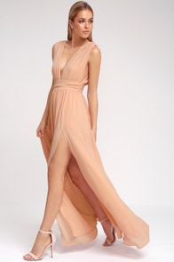 Heavenly Hues Blush Maxi Dress at Lulus.com!