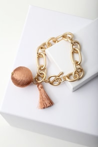 Carressa Gold and Rose Gold Chain Bracelet