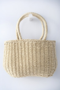 Hidden Shores Beige Woven Purse at Lulus.com!