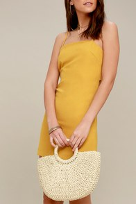 Cordelia Beige Woven Purse at Lulus.com!