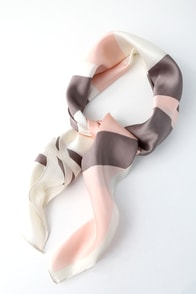 French Girl Blush Multi Striped Scarf