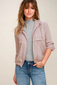 Halley Mauve Jacket at Lulus.com!