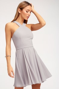 Lace Dress - Light Blue Dress - Sleeveless Dress - $64.00