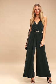 Loxie Charcoal Grey Wide-Leg Jumpsuit at Lulus.com!