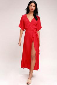 Enchanted Red Midi Dress