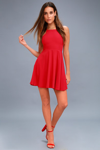 Call to Charms Red Skater Dress