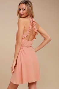 Morning Glory Blush Pink Wrap Dress at Lulus.com!
