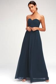 Lovely Burgundy Dress Lace Maxi Dress Long Sleeve Dress