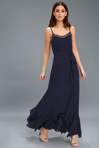 Stars In Your Eyes Navy Blue Maxi Dress at Lulus.com!