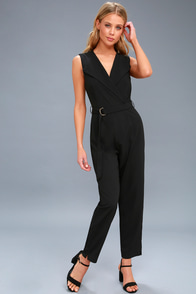 For The Love Of You Black Belted Jumpsuit at Lulus.com!