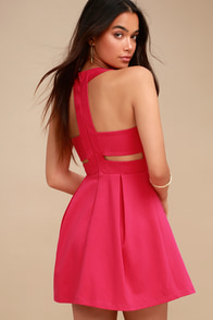 4221f83413 Summary -  Cute Bright Peach Dress Skater Dress Sleeveless Dress