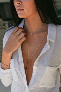 Ardent Rose Gold Layered Necklace