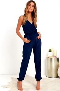 Learning to Fly Navy Blue Jumpsuit