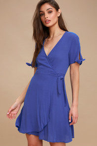 My Philosophy Royal Blue Wrap Dress