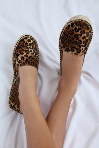 Mabry Leopard Print Slip-On Espadrille Flats