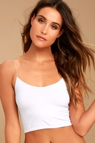 Brami White Bra Top at Lulus.com!