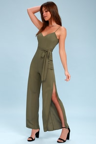 Winning Chic Olive Green Jumpsuit
